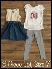 Girls Clothing Lot, 3 Items, Size 7, D-Signed, Gymboree, Jumping Beans, Dress