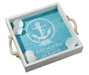 Anchored In Love Wedding Tray Plus Signing Shells Wedding Guest Book Alternative