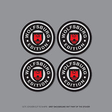 SKU2256 - 4 x VW Wolfsburg Alloy Wheel Centre Cap Stickers Car - 60mm