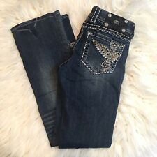 Miss Me Bootcut Embellished Cross Angel Wing Jeans Size 26 Color MK18   JP5117-4