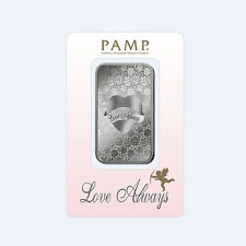 silver bullion 1 Oz Pamp Suisse Love Always Valentine's Day Love silver bar gift