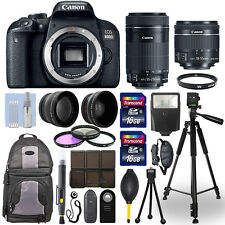 Canon EOS 800D DSLR Camera + 18-55mm STM + 55-250mm STM 4 Lens 32GB Valued Kit