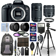 Canon EOS 800D DSLR Camera + 18-55mm STM + 55-250mm STM 4 Lens 32GB Valued Kit