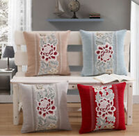 45cm x 45cm Floral Patterned Jacquard Cushion Covers with Cushion Scatter Pillow