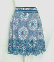 Skirt Size 18 Mantaray Faithful & True blue floral zip broderie anglaise