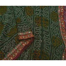 Sanskriti Vintage Sarees Pure Georgette Silk Beaded Fabric Premium Bandhani Sari