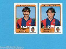 PANINI CALCIATORI 1984/85 -FIGURINA n.329- LOGOZZO+ROMANO - BOLOGNA -Rec