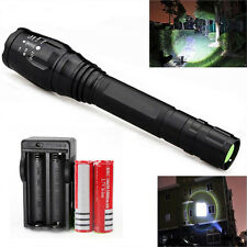 Zoomable 12000LM 5-Mode XMLT6 LED Flashlight Torch Lamp Light 18650 & Charger