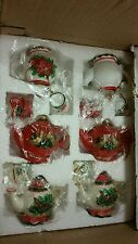 Oriental Trading Company Christmas Holiday tea pot ornaments 6 pc set