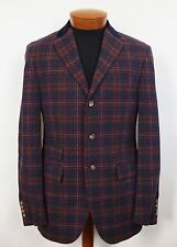 $1495 POLO RALPH LAUREN Plaid Tartan VIRGIN WOOL CASHMERE Jacket Sport Coat 38R