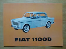 FIAT 1100D SALOON orig c1963 USA Mkt sales brochure - 1100 D