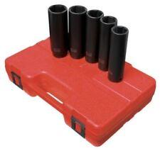 "Sunex 5pc 1/2"" SAE 6 Point Extra Long Deep Well Impact Sockets Set Drive 2845"