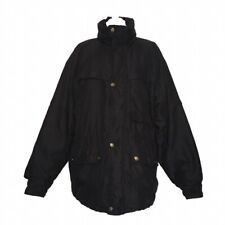 Vintage Aquascutum Black Coat Size XL Extra Large Mens Designer Winter Jacket