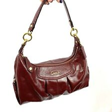 COACH Vintage Ashley Crimson Red Patent Leather Hobo Bag Purse Handbag