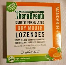 TheraBreath Dry Mouth LOZENGES with Xylitol sugar free 24 MANDARIN MINT 6/2021