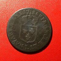 #1619 - RARE - Louis XVI 1/2 Sol 1786 L Bayonne RARE R2 - FACTURE