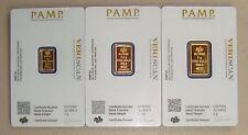 1 Gram & 2.5 Gram & 5 Gram Pamp Suisse .9999 Fine Gold Bar Lot