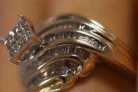 HEAVY WIDE 14K YELLOW GOLD 1.50CT DIAMOND STARBURST FLOWER ART DECO RING SZ 7
