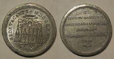 Vaticano medaglia sede vacante 1823 1° tipo senza data alluminio