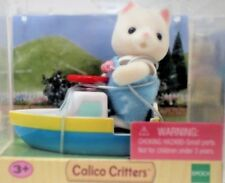 Calico Critters Baby Carry Case - Mini Cat With Boat!- Multiple item discount!
