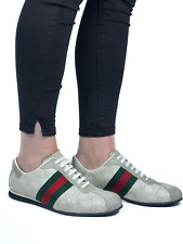 GUCCI women's beige leather guccissima sneakers | Size EUR 40.5/US 9 (10.2 in)