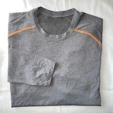 Lululemon Men's Sz M Metal Vent Tech L/S Crewneck Pullover Gray S190609