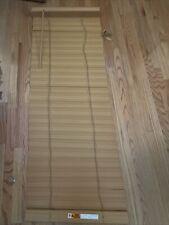 Faux Wood 2� Slats Window Blinds Light Wood Color 22.5� W x 60� Vgc #4