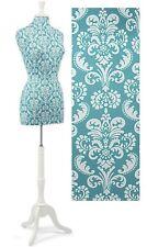 "Dressmaker Form Premium Women's Blue Damask Size 8 Mannequin 59 73"" Tall"