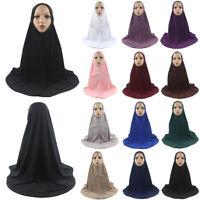 Muslim Women Prayer Dress Long Scarf Hijab Jilbab Islamic Large Overhead Clothes