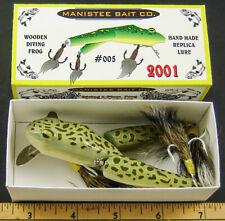 New ListingManistee Bait Co. Wood Frog Lure Nib * Nice!