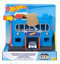 New Hot Wheels Downtown Police Station Breakout Vehicle Playset