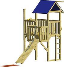 WINNETOO Spielturm Kletterturm Holzspielhaus Stelzenhaus mit Balkon Tüv Hexe 1