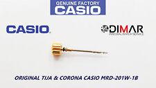VINTAGE CASIO ORIGINAL CORONA & TIJA PARA CASIO MRD-201W-1B NOS