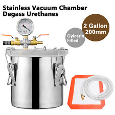 2 Gallon Vacuum Chamber Degass Urethanes Silicone Epoxies Stainless Steel