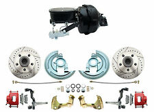 "Deluxe 9"" Dual Power Disc Brake Conversion Kit w/ Red Calipers, 1964-72 Chevelle"