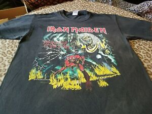 IRON MAIDEN THE NUMBER OF THE BEAST SHIRT LARGE SOFT FADED BEAT UP METAL