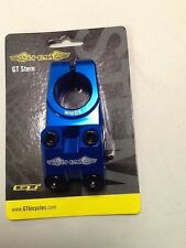 GT PRO CNC Race Stem BMX Park Bike Handlebar Stem 1 1/8 inch Threadless Blue new