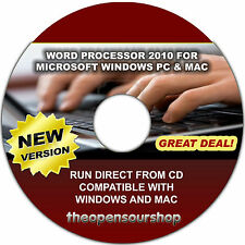 Compatible con Microsoft Word Processor 2010: cree, edite y publicar documentos