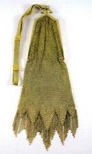 New listing Vintage 1920's Whiting & Davis Cathedral Frame Mesh Fringe Skirt Flapper Purse