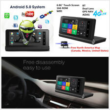 "6.86"" Touch Screen Bluetooth Wifi DVR GPS Navigator Dual Lens HD Video Recorder"
