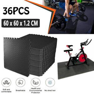 36PCS EVA Foam Exercise Floor Mat Gym Kids Fitness Home Interlocking Floor Tiles