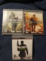 Call of Duty Bundle - Modern Warfare 1/2/3 Playstation 3 CLEAN TESTED AND WORKS