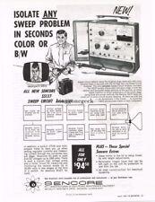 1967 Sencore SS137 Sweep Circuit Analyzer TV Service Equipment Vtg Print Ad