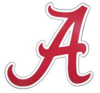 University of Alabama Crimson Roll Tide Flying A Mini Decal Sticker for Car