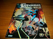 1998 Graphic Novel Superman War of The Worlds Autographed by Michael Lark