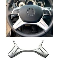 Car Silver ABS Steering Wheel Frame Trim Cover Sticker for Mercedes Benz C G5Y1