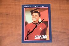 Impel 1991 Star Trek 25th Anniversary Card #121 Signed by James Doohan