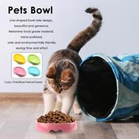 Melamine Non-Slip Pet Bowl Cat Kitten Feeding Food Water Dish Dog Puppy Feeder