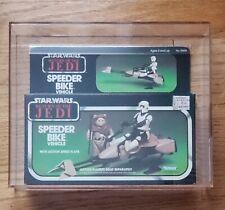 Vintage Star Wars 1983 kenner AFA 80+ SPEEDER BIKE Vehicle ROTJ MISB Sealed Box!