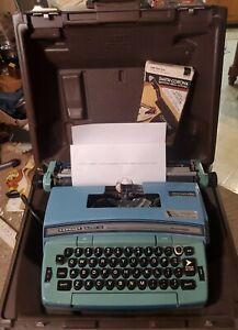 Smith Corona Electric Coronet Super 12 Baby Blue Typewriter Script Storage Case